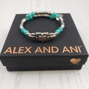 Alex and Ani Vintage 66 Silver Tone Wrap Bangle